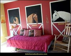 horse theme bedrooms-girls horse themed bedroom ideas