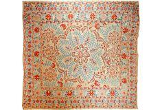 Silk Suzani, Swimming Fish - One Kings Lane - Vintage & Market Finds - Textiles