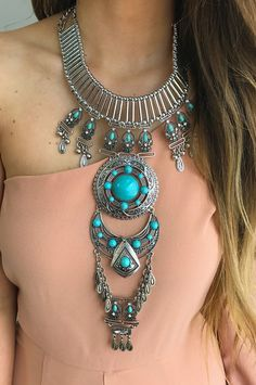 Best All Around Necklace: Silver/Turquoise