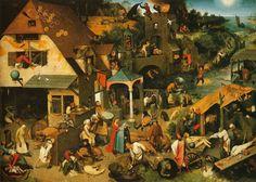 Pieter Bruegel the Elder - Netherlandish Proverbs