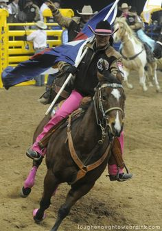 Christy Loflin at the 2013 NFR. Are you ready for the Wrangler National Finals Rodeo? | Tough Enough to Wear Pink