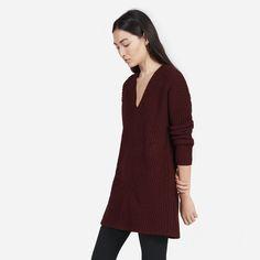 Italian wool. Modern tunic shape. The winter sweater gets an upgrade. 100%…