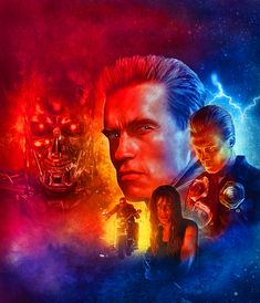 Terminator 2 by Rich Davies Terminator 1984, Terminator Movies, James Cameron, King Kong, Tim Burton, Pulp Fiction Characters, The Others Movie, Top Tv Shows, Alternative Movie Posters