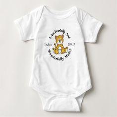 Cute Psalms 139:14 Design Baby Bodysuit - shower gifts diy customize creative