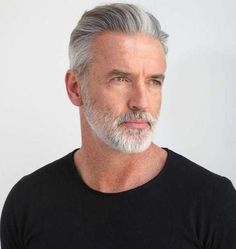 53 Trendy Haircut For Men Silver Foxes Older Mens Hairstyles, Trendy Mens Haircuts, Haircuts Straight Hair, Cool Haircuts, Cool Hairstyles, Hairstyle Ideas, Silver Hair Men, Men With Grey Hair, Gray Hair