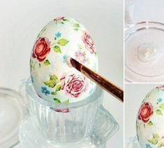 Готовимся к Пасхе: 3 салфетки, яйца и крахмал помогут сотворить настоящее чудо. Easter Parade, Egg Art, Egg Decorating, Diy And Crafts, Tableware, Handmade, Decoupage Ideas, Easter Ideas, Diy Ideas