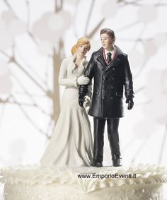 Shop the winter wonderland wedding cake topper featuring a couple figurine wrapped in cozy overcoats and gloves to celebrate their love in style. Wedding Groom, Wedding Couples, Bride Groom, Wedding Gowns, Winter Wonderland Cake, Winter Wedding Receptions, Winter Weddings, Reception Ideas, Wedding Venues