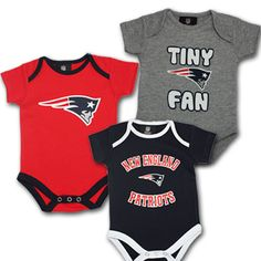 New England Patriots Baby Onesies. I must really love my bf cause if we ever have kids ill get this for our baby