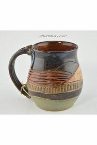 Pottery Mug with a Saying - Mountain Landscape