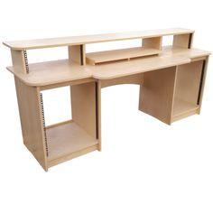 Ash veneered producer workstation -- Based off our PD2VA: http://sounddesks.co.uk/pd2va-ash-production-desk-477-p.asp