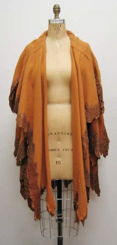 Coat Fendi (Italian) ca. 1980s wool, snakeskin