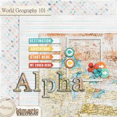 Free Mini Kit from Kimeric Kreations {DigiScrap Parade August 2015: World Geography 101}