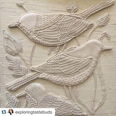 with ・・・ Relief painting in making by mommy. Madhubani Paintings Peacock, Kalamkari Painting, Tanjore Painting, Ceramic Painting, Diy Painting, Ceramic Art, Emboss Painting, Mural Wall Art, Murals