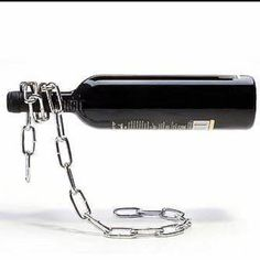 "The ""floating"" wine holder"