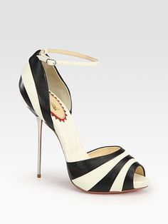 Christian Louboutin - Striped Leather Repin This by Joanna MaGrath #wedding www.BlueRainbowDesign.com