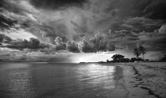 Storm is coming - Trinidad, Cuba #cuba #bw #blackandwhite #carribien #sea #coast #ocean #storm #weather #clouds #sunset