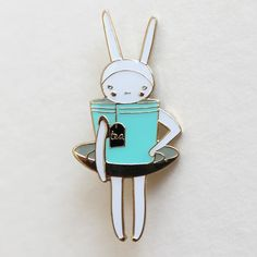 The 'Teacup' Brooch / Fifi Lapin