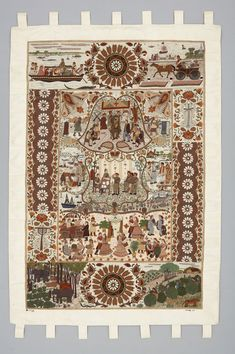 Artwork Object Name:Art Embroidery Local Name:nakshi kantha Title:Georgian Times Maker:Surayia Rahman Place Made:Asia: South Asia, Bangladesh Period:Early 21st century Date:2003 Era:Journey,tradition Dimensions:L 158 cm x W 108 cm Materials:Silk Techniques:Embroidered