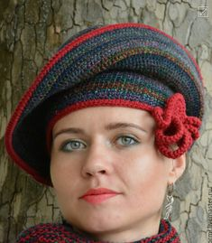 Tina's handicraft : 14 designs & patterns for hats Funky Hats, Cute Hats, Freeform Crochet, Knit Crochet, Crochet Hats, 1920s Hats, Crochet Carpet, Knifty Knitter, Turban