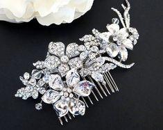 Gold Wedding headpiece Silver Bridal hair от TheExquisiteBride
