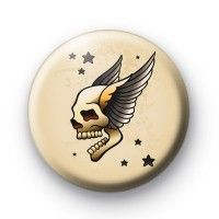 Old School Skull Wings Tattoo Button Badges Button Badges £0.85