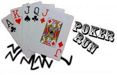 Poker Run Fundraiser. Attracts classic car owners and others. Charge a registration fee. Registrants pick up clues to the route where they pick up one card from a deck of cards. Box lunches are provided at the end while waiting for all cars to  return. The best poker hand wins the grand prize which could be a set of tires, detailing, tune-up and oil change, etc (hopefully donated).
