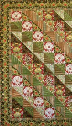 Lotus Garden Quilt, free tutorial here!