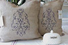 2  Burlap Pillows French Grainsack Pillow by MODERNVINTAGEMARKET, $70.00 texture