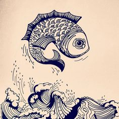 More fish today. Lost and found #illustration.