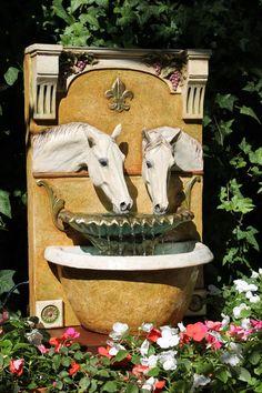 Two Horses Drinking (Florentine) - Patricia Borum
