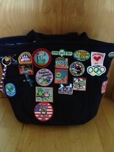 Leader Girl Scout Bag......maybe I should put all of my patches on a bag instead of my sweater....