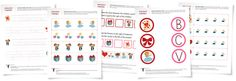 Valentines Day Worksheets (free; from School Sparks)