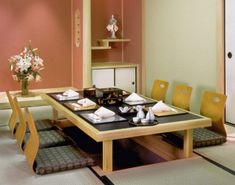 Low Anese Dining Room Table Furniture Sets Design