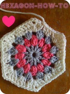 Hello Hexagon, free pattern with step-by-step instructions by Pip Lincoln from Meet Me At Mike's   . . . .   ღTrish W ~ http://www.pinterest.com/trishw/  . . . .   #crochet