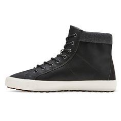 • Polyurethane/Polyester for comfy, breathable upper<br>• Lace up front for customizable fit<br>• Extended outsole for classic style and comfort<br>• Cushioned collar protects your legs<br>• Lightweight design for all-day comfort<br><br>Give your look a classic punch with the Men's Alec Hi-Top Sneakers in Black by Mossimo Supply Co. These men's sneakers have a fashion-forward look that relies o...