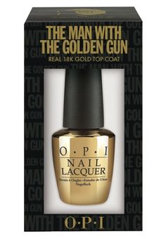OPI The Man with the Golden Gun: real 18k gold top coat... I could do without the real gold, but I like this color