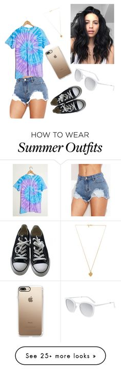 """""""summer outfit #1"""" by paigebowess on Polyvore featuring Vanessa Mooney, Casetify, Converse and Smoke x Mirrors"""