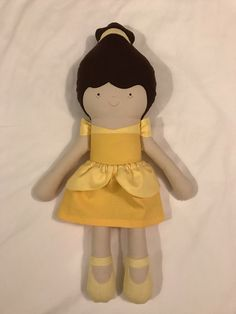 A personal favorite from my Etsy shop https://www.etsy.com/listing/494581010/belle-beauty-and-the-beast-fabric-doll