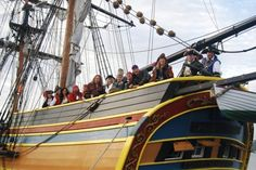 All the Pirates of the Puget Sound on the Lady Washington (the ship from Pirates of the Caribbean) I'm on the far left