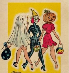 ✨🎃💀🕸️👻 every spooky, pretty, yummy, cute, and fun side of halloween. Retro Halloween, Fall Halloween, Vintage Halloween Costumes, Halloween Quotes, Happy Halloween, Vintage Halloween Images, Ghost Costumes, Vintage Halloween Decorations, Costume Halloween