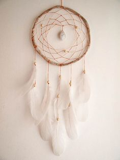 Large Dream Catcher White Magic With Unique by perpetumobile