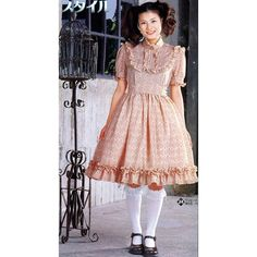 DIY Sweet Lolita Bib Dress Sewing Pattern PDF English template names Dress Sewing Patterns, Clothing Patterns, Clothing Ideas, Gothic Lolita Fashion, Japan Fashion, Lolita Dress, Modest Outfits, Costume Design, Creations