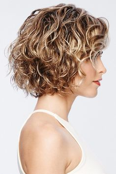 Thoroughly modern, remarkably natural looking. Unstructured air-dried waves and a light, comfortable fit make today's popular crop a must-have addition to any wig wardrobe. You will find all of that in this wonderful, chic wig. Curly Hair Styles, Curly Hair With Bangs, Curly Hair Cuts, Curly Bob Hairstyles, Long Curly Hair, Hairstyles With Bangs, Short Hair Cuts, Curly Short Bobs, Short Natural Curly Hairstyles