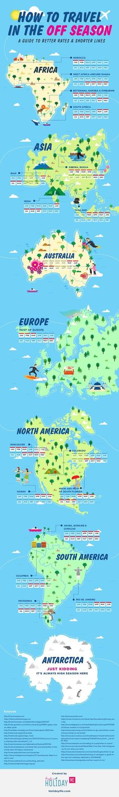 Infographic: A Guide To Off Season Travel In Countries Around The World #Travel #Exotic #ShermanFinancialGroup