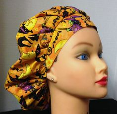 A personal favorite from my Etsy shop https://www.etsy.com/listing/162940917/womens-bouffant-surgical-scrub-hat-its