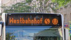 Die eher ungewöhliche Zielanzeige Busse, Public Transport, Vienna