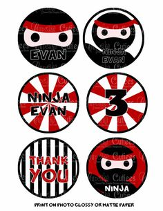 Personalized Ninja Stickers Ninja Birthday Parties, Ninja Party, Lego Ninjago, Graphic Design, 3d Design, Party Ideas, Printables, Love, Tags