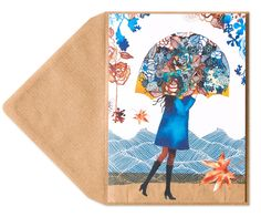 Girl with Floral Umbrella Price $5.95