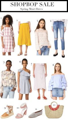 RD's Obsessions: Spring Must-Haves with Shopbop Sale || Shopbop Sale ||  Top Spring Must-Haves || Spring Trends 2017