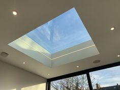 A finished skylight with finished LED strip light completely internal frameless glass solar reflective and self cleaning glass as standard! #frameless #skylight #lightwell #framelessroof #flatroom #extension #renovation #homerenovation #londonextention